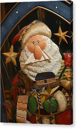 Santa Claus - Antique Ornament - 27 Canvas Print by Jill Reger
