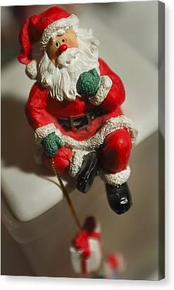 Santa Claus Canvas Print - Santa Claus - Antique Ornament - 35 by Jill Reger
