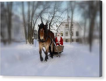 Santa Claus Canvas Print by Conny Sjostrom
