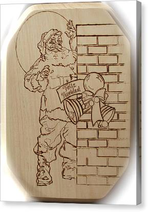 Santa Claus - Feliz Navidad Canvas Print by Sean Connolly