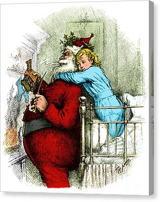 Santa Claus Gets Caught 1889 Canvas Print