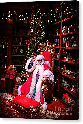 Santa Claus Greeting Canvas Print by Scott Allison