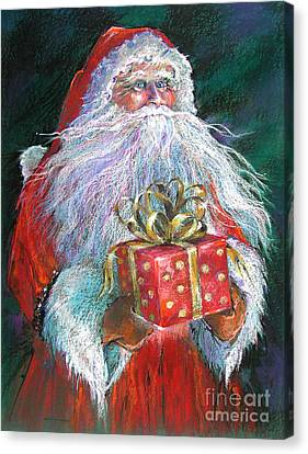 Santa Claus - The Perfect Gift Canvas Print by Shelley Schoenherr