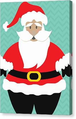 Santa Claus With Medium Skin Tone Canvas Print by Linda Woods