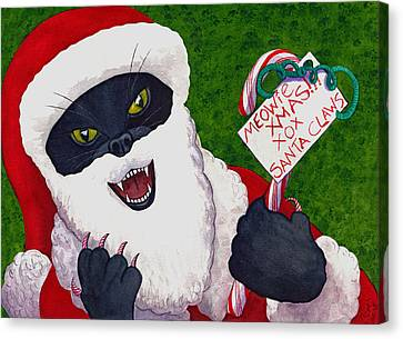 Santa Claws Canvas Print by Catherine G McElroy