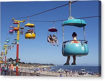 Santa Cruz Beach Amusement Park  Canvas Print