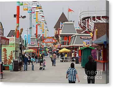 Santa Cruz Beach Boardwalk California 5d23625 Canvas Print by Wingsdomain Art and Photography