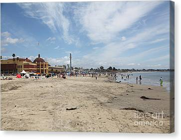 Roller Coaster Canvas Print - Santa Cruz Beach Boardwalk California 5d23758 by Wingsdomain Art and Photography