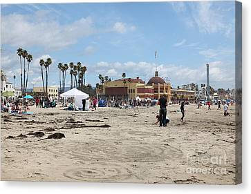 Roller Coaster Canvas Print - Santa Cruz Beach Boardwalk California 5d23760 by Wingsdomain Art and Photography