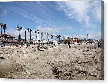 Roller Coaster Canvas Print - Santa Cruz Beach Boardwalk California 5d23761 by Wingsdomain Art and Photography