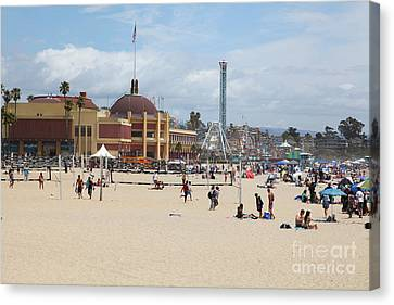 Roller Coaster Canvas Print - Santa Cruz Beach Boardwalk California 5d23774 by Wingsdomain Art and Photography