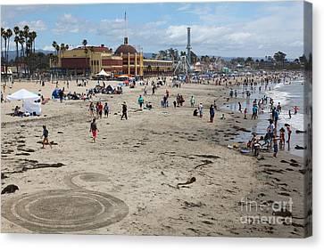 Roller Coaster Canvas Print - Santa Cruz Beach Boardwalk California 5d23778 by Wingsdomain Art and Photography