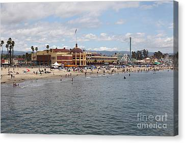 Roller Coaster Canvas Print - Santa Cruz Beach Boardwalk California 5d23780 by Wingsdomain Art and Photography