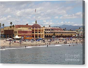Roller Coaster Canvas Print - Santa Cruz Beach Boardwalk California 5d23784 by Wingsdomain Art and Photography