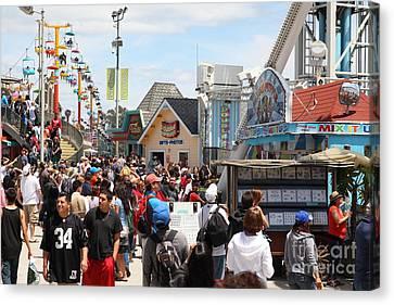 Roller Coaster Canvas Print - Santa Cruz Beach Boardwalk California 5d23848 by Wingsdomain Art and Photography