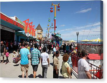 Roller Coaster Canvas Print - Santa Cruz Beach Boardwalk California 5d23865 by Wingsdomain Art and Photography