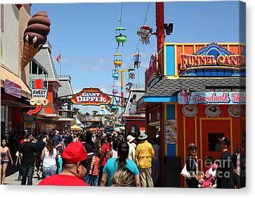 Roller Coaster Canvas Print - Santa Cruz Beach Boardwalk California 5d23866 by Wingsdomain Art and Photography