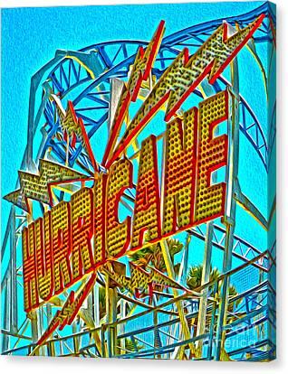 Santa Cruz Boardwalk - Hurricane Canvas Print by Gregory Dyer