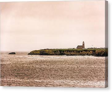 Santa Cruz Lighthouse Canvas Print by Jon Woodhams