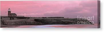 Santa Cruz Lighthouse State Park Panorama Canvas Print by Paul Topp