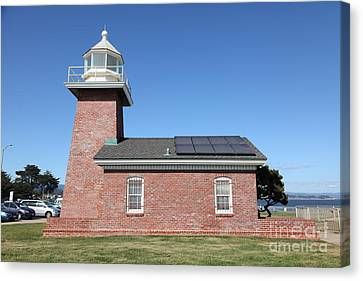 Santa Cruz Lighthouse Surfing Museum California 5d23942 Canvas Print by Wingsdomain Art and Photography