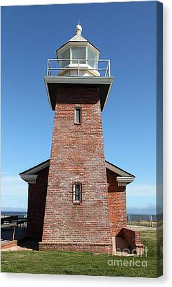 Santa Cruz Lighthouse Surfing Museum California 5d23944 Canvas Print by Wingsdomain Art and Photography