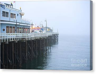 Santa Cruz Pier In The Fog Canvas Print by Artist and Photographer Laura Wrede
