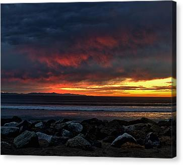 Santa Cruz Rocks Canvas Print by Michael Gordon