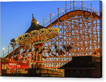 Santa Cruz Seaswing And The Giant Dipper 4 Canvas Print by Scott Campbell