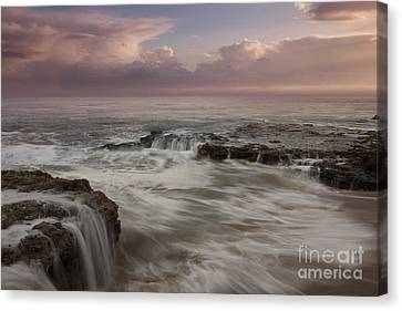 Santa Cruz Sunset Canvas Print by Keith Kapple
