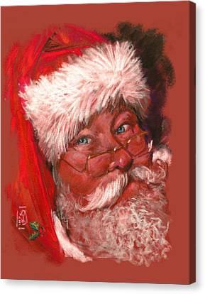 Santa  Canvas Print by Debra Jones