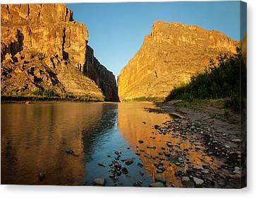 Santa Elena Canyon And Rio Grande Canvas Print