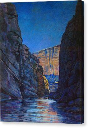 Santa Elena Canyon Big Bend Texas Canvas Print by Dan Terry
