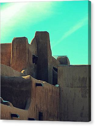 Santa Fe Adobe Canvas Print by Gia Marie Houck
