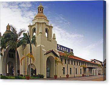 Santa Fe Depot Canvas Print by Photographic Art by Russel Ray Photos