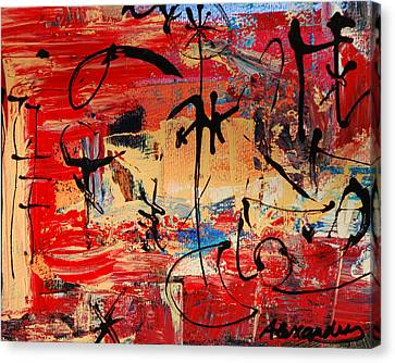 Divertimento No.21 - Santa Fe Canvas Print by Alexandra Jordankova