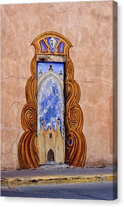 Santa Fe Door Mural Canvas Print
