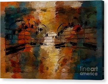Canvas Print featuring the digital art Santa Fe Intermezzo by Lon Chaffin