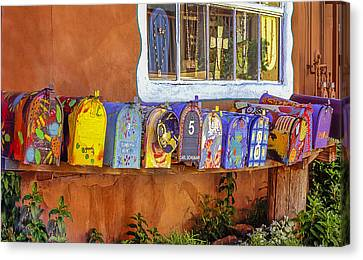 Santa Fe Mailboxes 2 Canvas Print by Wendell Thompson