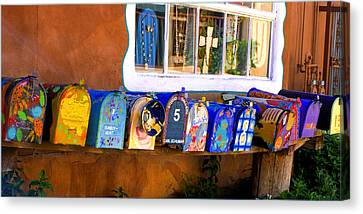 Canvas Print featuring the photograph Santa Fe Mailboxes by Wendell Thompson