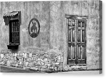 Canvas Print featuring the photograph Santa Fe New Mexico Street Corner by Ron White