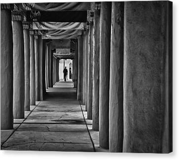Canvas Print featuring the photograph Santa Fe New Mexico Walkway by Ron White