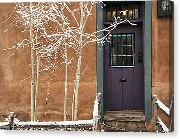 Santa Fe Purple Door Canvas Print by Dave Dilli