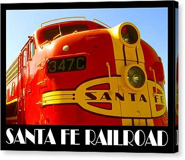 Santa Fe Railroad Color Poster Canvas Print by Art America Gallery Peter Potter