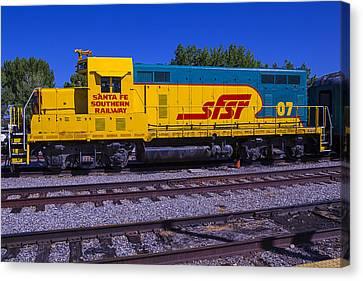 Santa Fe Southern Railway Engine Canvas Print by Garry Gay