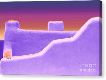 Santa Fe Sunset Canvas Print by Linda  Parker