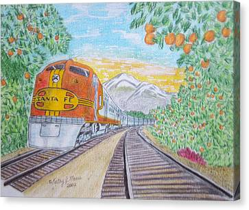 Santa Fe Super Chief Train Canvas Print