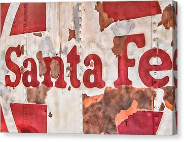 Santa Fe Vintage Railroad Sign Canvas Print by Steven Bateson