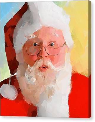 Santa Greetings Canvas Print by Yury Malkov