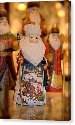 Canvas Print featuring the photograph Santa  by Lora Lee Chapman